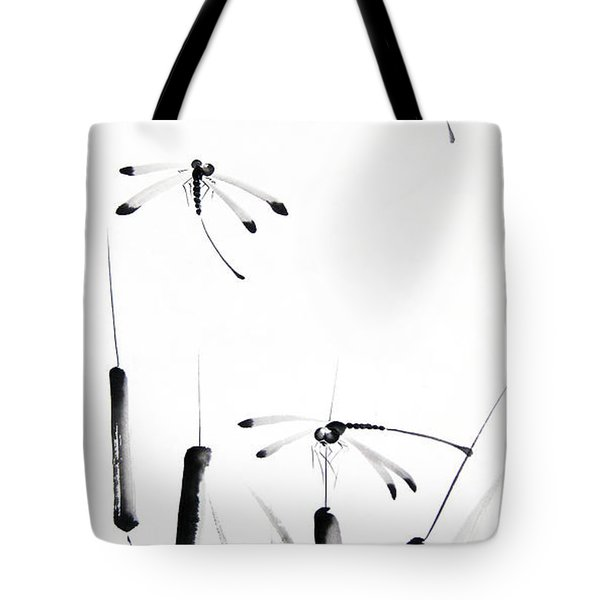 Dragonfly Dance Tote Bag by Oiyee At Oystudio