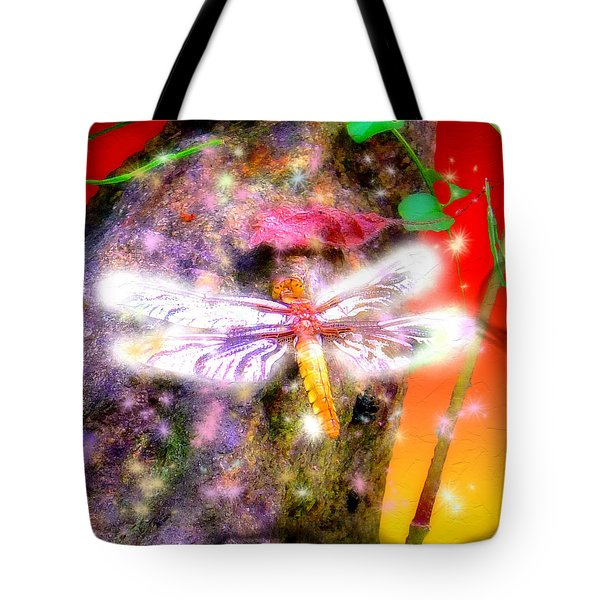 Tote Bag featuring the digital art Dragonfly by Daniel Janda