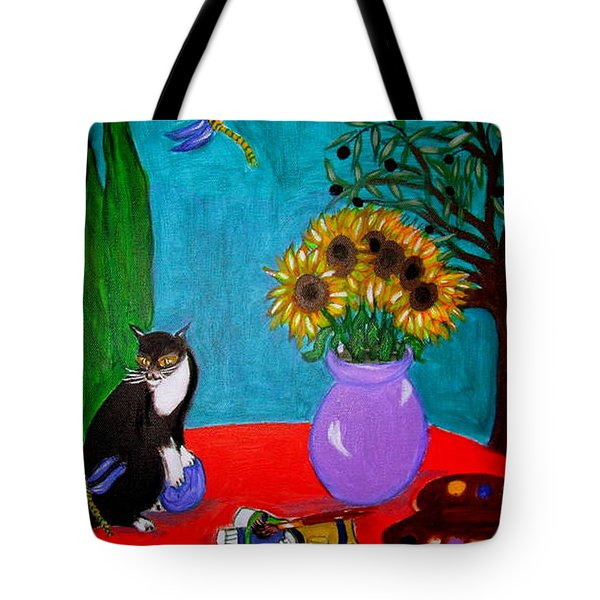 Dragonfly Days In Provence Tote Bag