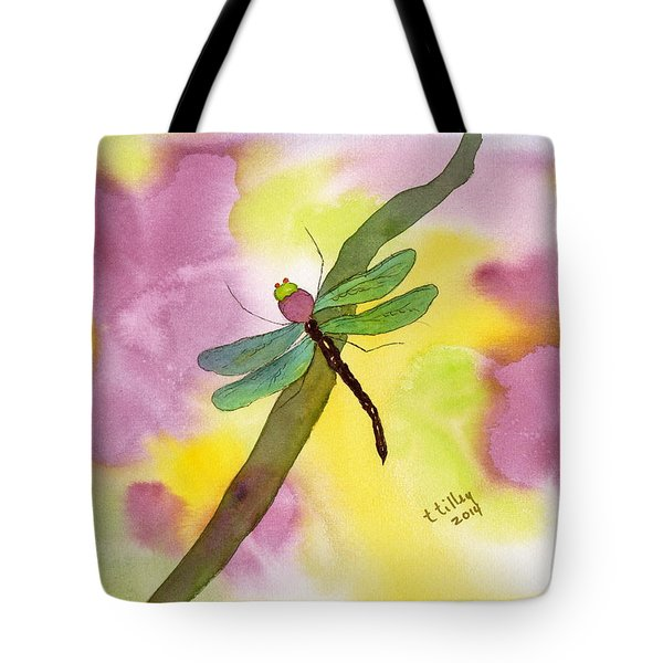 Dragonfly Dream Tote Bag by Teresa Tilley