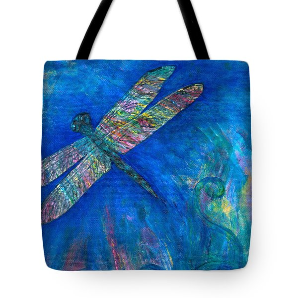 Dragonfly Flying High Tote Bag