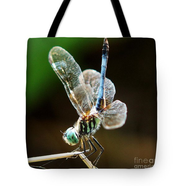 Dragonfly Headstand Tote Bag