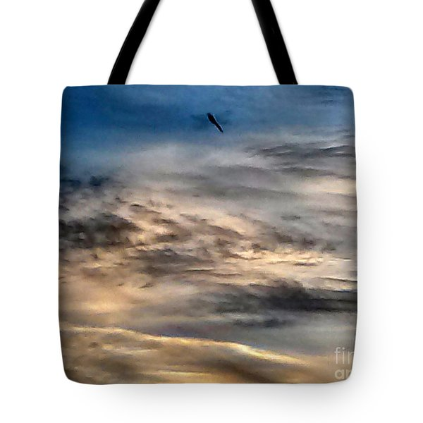 Dragonfly In The Sky Tote Bag