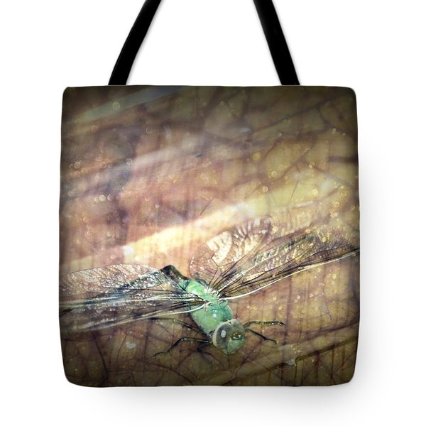 Dragonfly Leap Of Faith Tote Bag by Dawna Morton