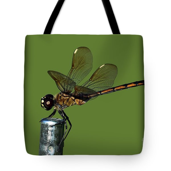Tote Bag featuring the photograph Dragonfly by Meg Rousher
