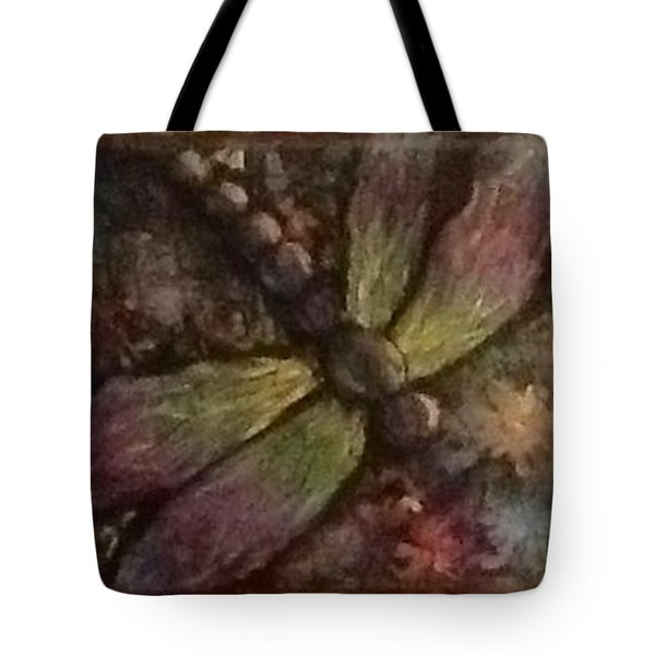 Tote Bag featuring the painting Dragonfly by Megan Walsh