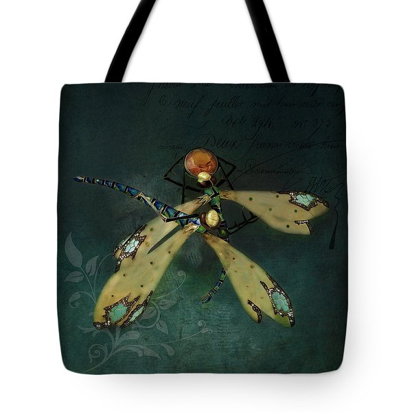 Dragonfly Romance Tote Bag