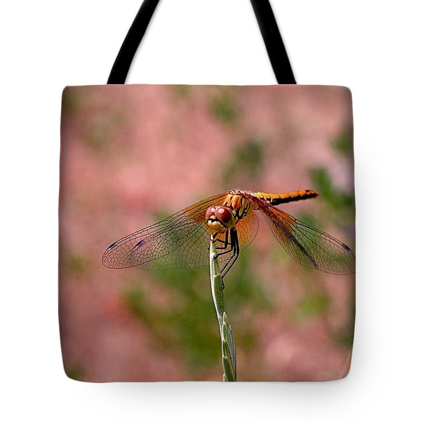 Dragonfly Tote Bag by Rona Black