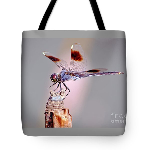 Tote Bag featuring the photograph Dragonfly by Savannah Gibbs