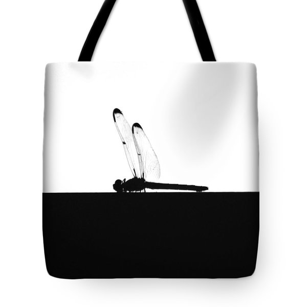 Dragonfly Silhouette Tote Bag by Maggy Marsh