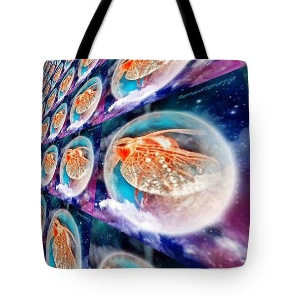 Dragonfly Time Warp Tote Bag