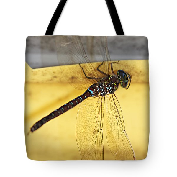 Tote Bag featuring the photograph Dragonfly Web by Melanie Lankford Photography