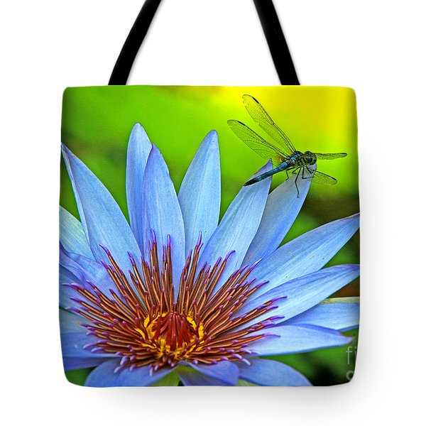 Tote Bag featuring the photograph Dragonlily 2 by Larry Nieland