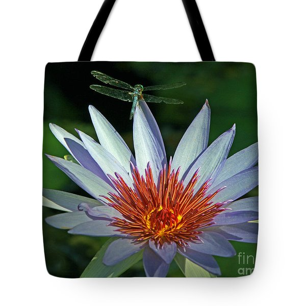 Dragonlily Tote Bag by Larry Nieland