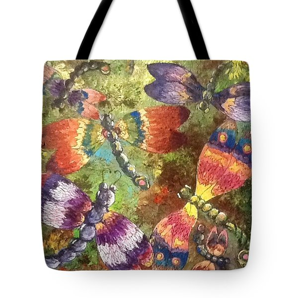 Tote Bag featuring the painting Dragons 2 by Megan Walsh