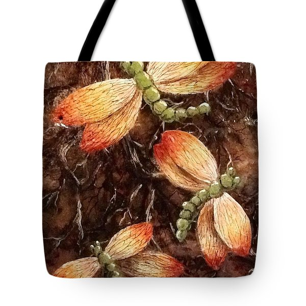 Tote Bag featuring the painting Dragons 5 by Megan Walsh