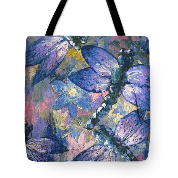 Tote Bag featuring the painting Dragons  by Megan Walsh