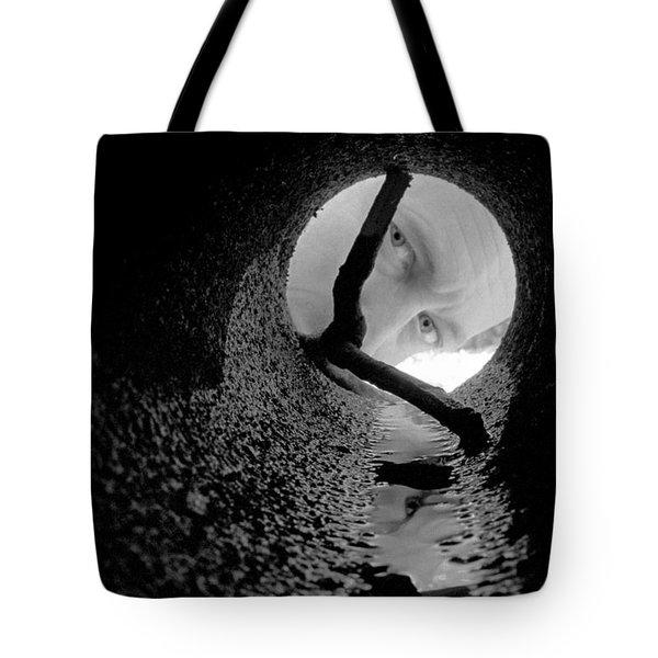 Drain Pipe - Artist Self Portrait Tote Bag by Gary Heller