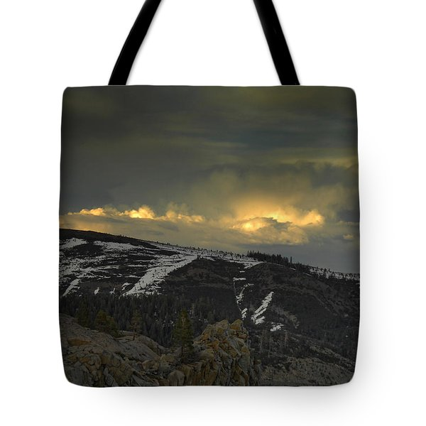 Drama Is Coming Tote Bag by Donna Blackhall