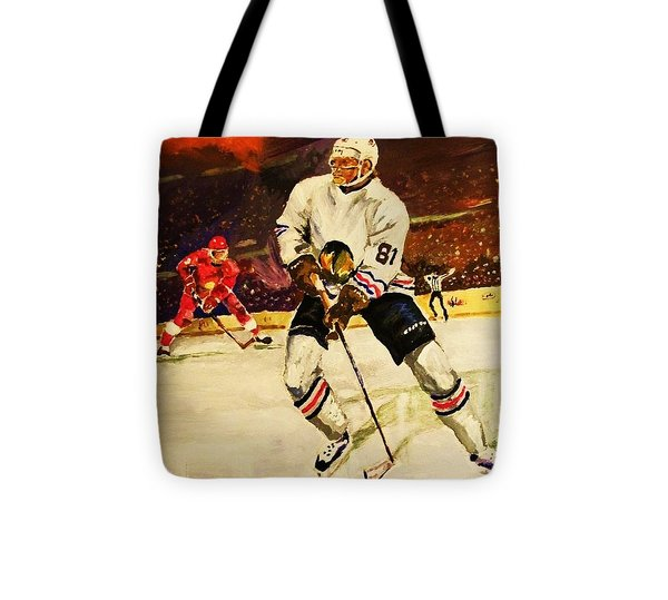Drama On Ice Tote Bag by Al Brown