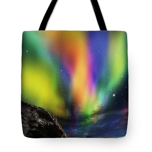 Dramatic Aurora Tote Bag