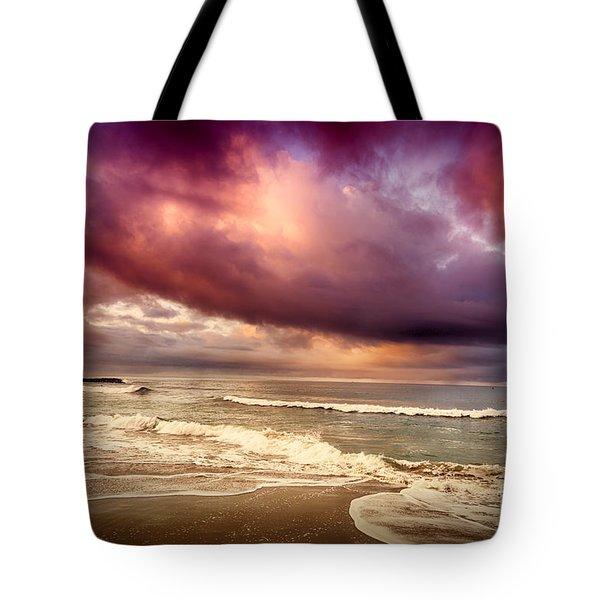 Dramatic Beach Tote Bag