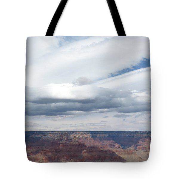 Dramatic Clouds Over The Grand Canyon Tote Bag by Laurel Powell