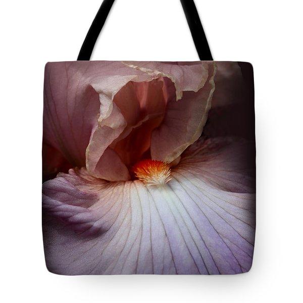 Dramatic Iris Flower Portrait Tote Bag by Jennie Marie Schell