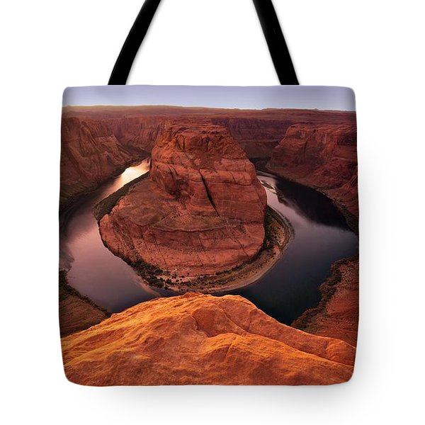 Tote Bag featuring the photograph Dramatic River Bend by David Andersen
