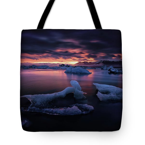 Dramatic Sunset Over Glacier Bay Tote Bag