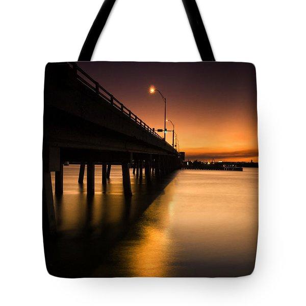Drawbridge At Sunset Tote Bag by Fran Gallogly