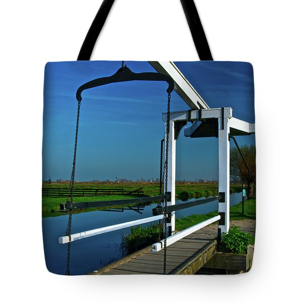 Drawbridge At Zaanse Schans Tote Bag by Jonah  Anderson