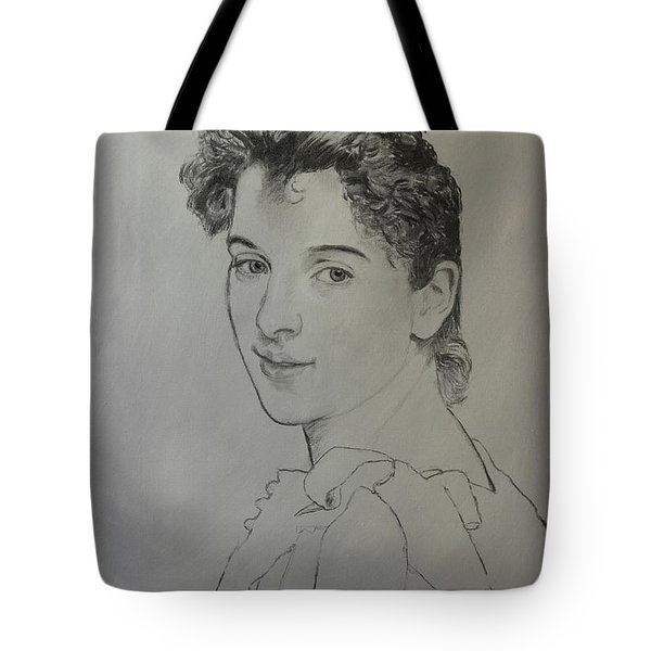 Tote Bag featuring the painting drawing for Gabrielle Cot portrait by Glenn Beasley