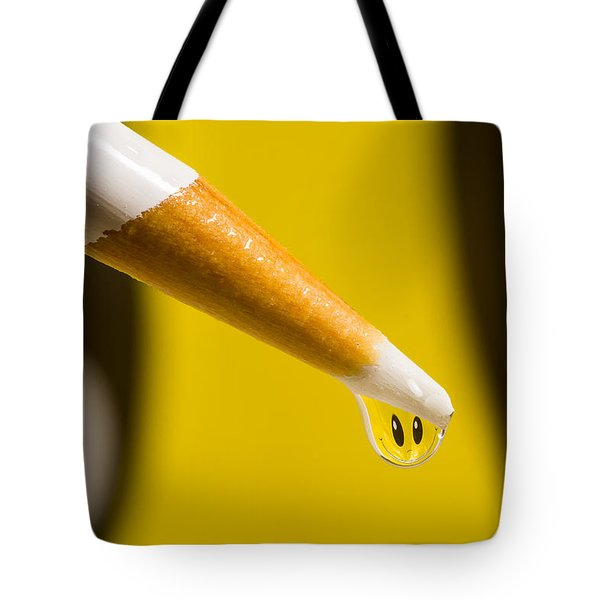 Happy Water Drop Pencil Tote Bag