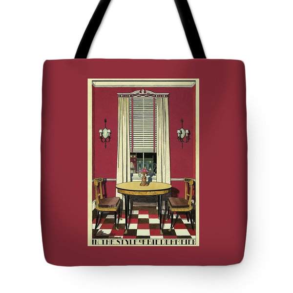 Drawing Of A Breakfast Room Tote Bag
