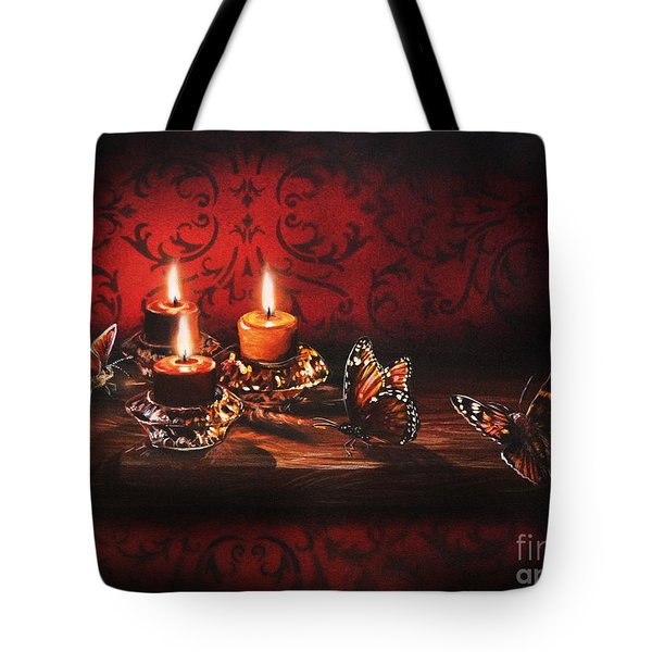Drawn To The Flame Tote Bag