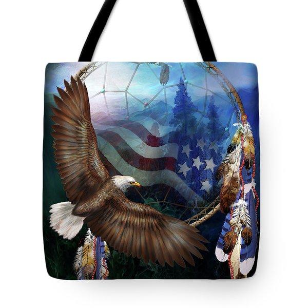 Dream Catcher - Freedom's Flight Tote Bag by Carol Cavalaris