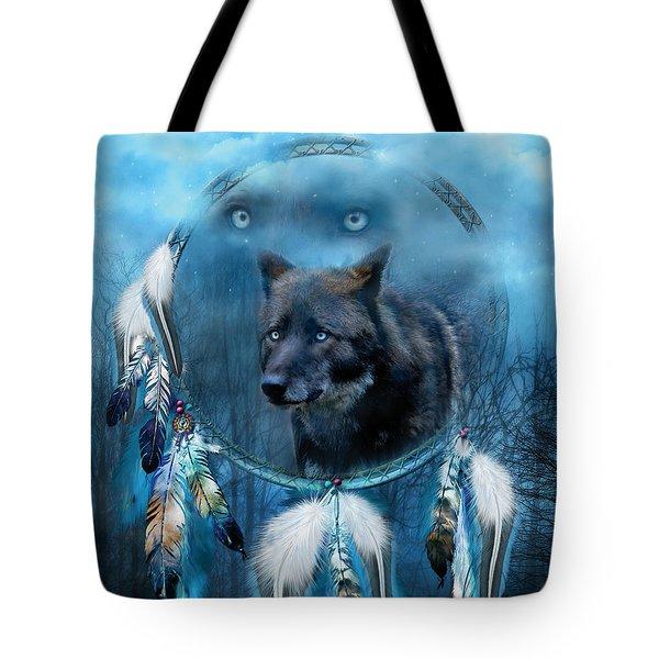 Dream Catcher - Midnight Spirit Tote Bag by Carol Cavalaris