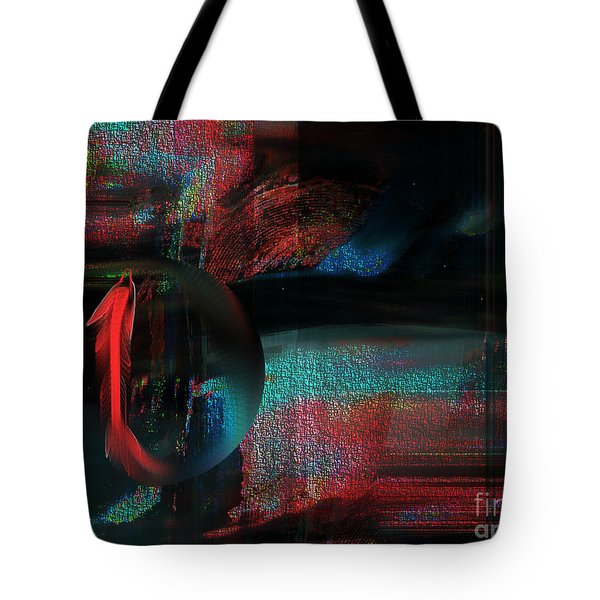 Tote Bag featuring the digital art Dream Catcher by Yul Olaivar