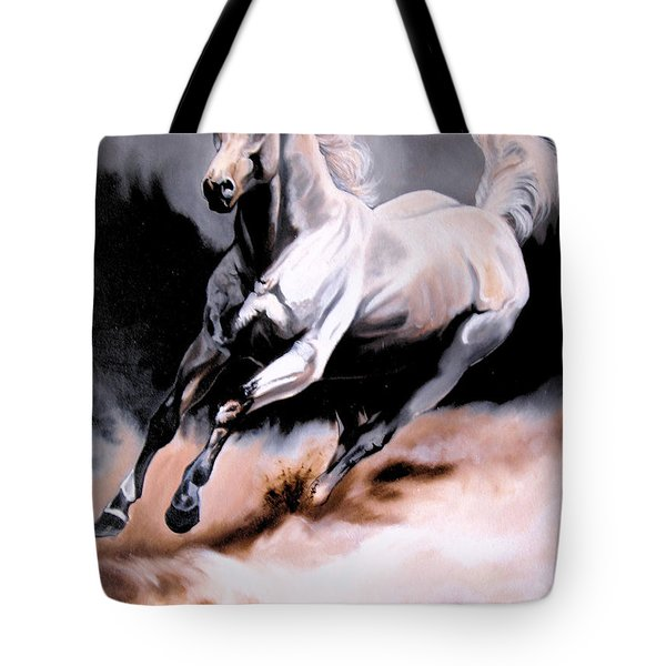 Dream Horse Series 20 - White Lighting Tote Bag