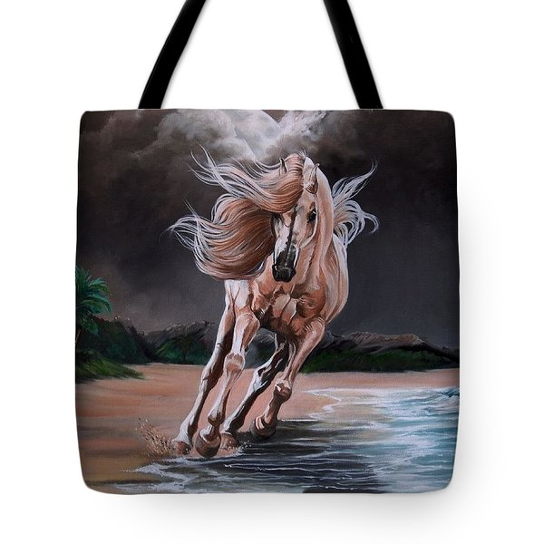 Dream Horse Series 261 - By Moon And By Sea Tote Bag