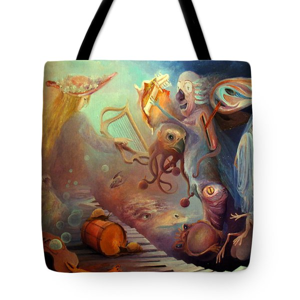 Tote Bag featuring the painting Dream Immersion by Mikhail Savchenko