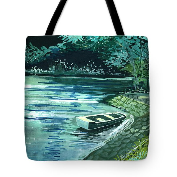 Dream Lake Tote Bag by Anil Nene