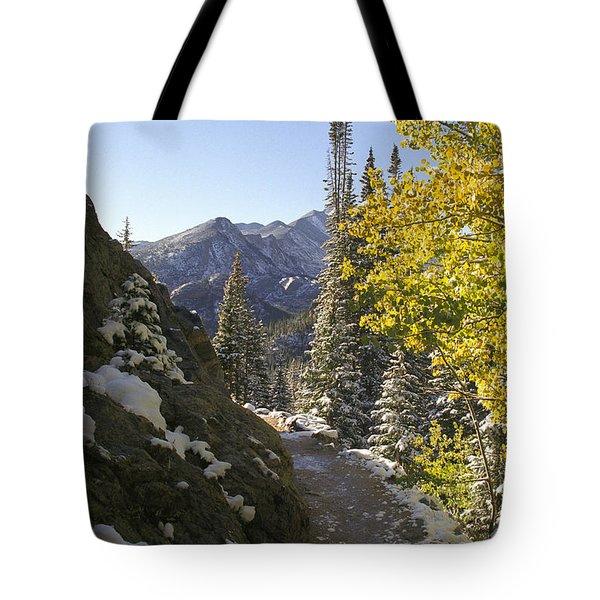 Dream Lake Sunrise Tote Bag by Teri Brown