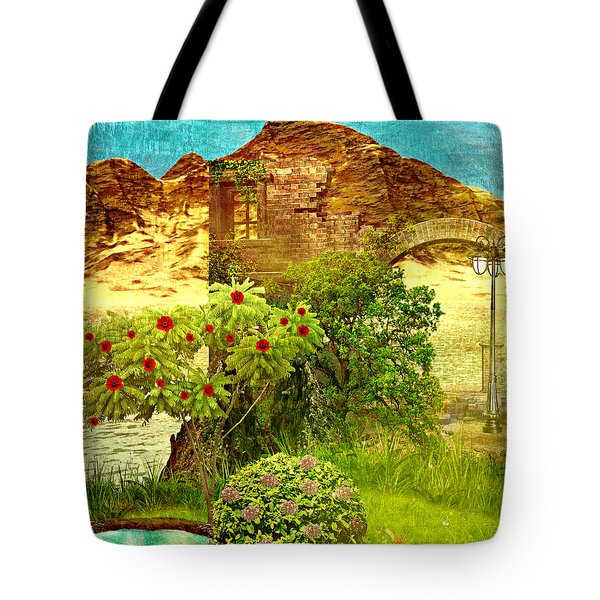Dream Land Tote Bag by Ally  White