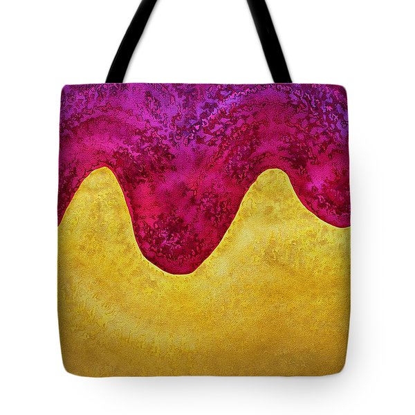 Dream Of Dunes Original Painting Tote Bag