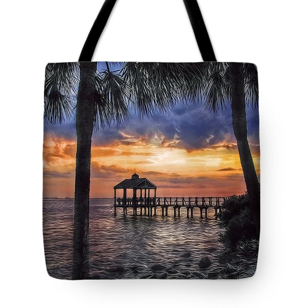 Tote Bag featuring the photograph Dream Pier by Hanny Heim