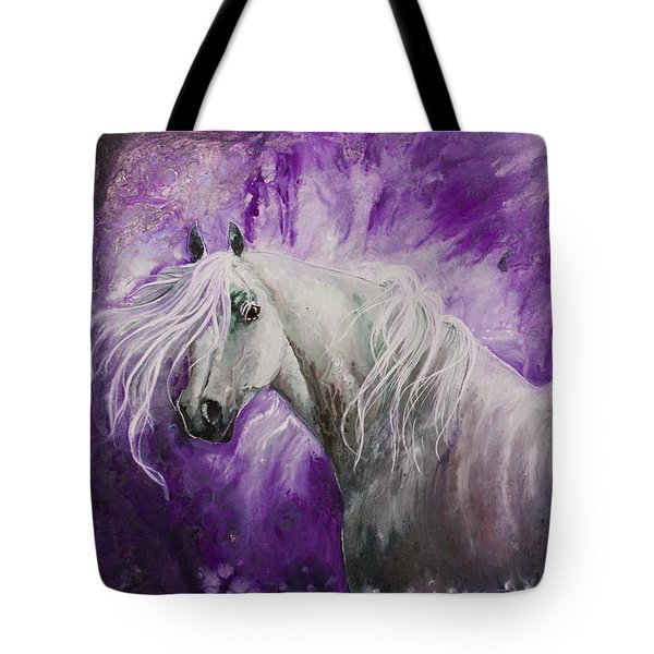 Tote Bag featuring the painting Dream Stallion by Sherry Shipley
