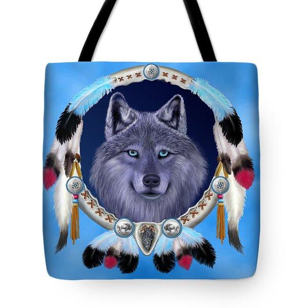 Dream Wolf Tote Bag by Glenn Holbrook