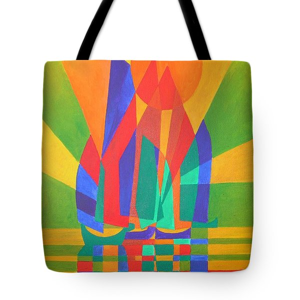 Tote Bag featuring the painting Dreamboat by Tracey Harrington-Simpson
